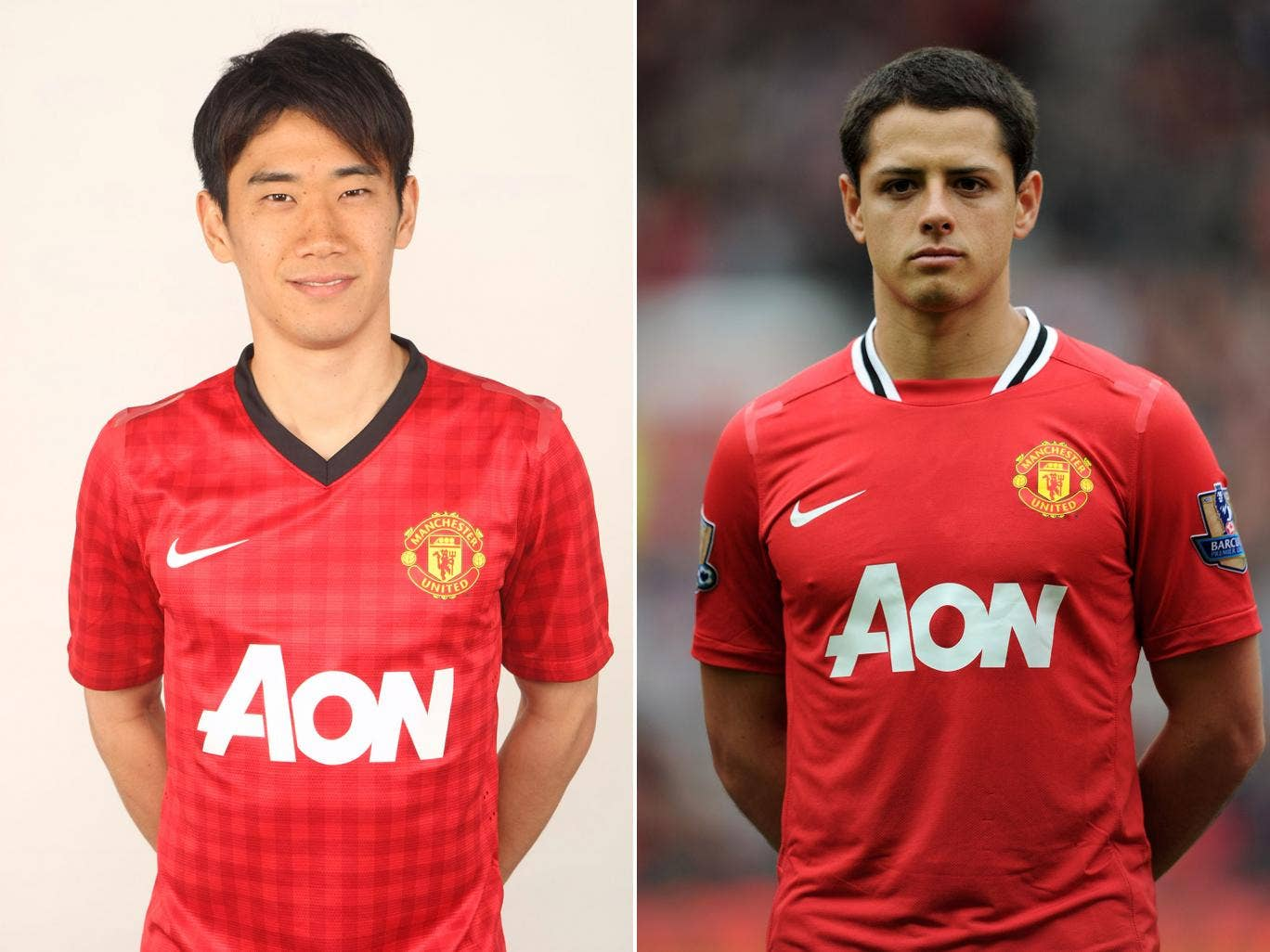 Shinji Kagawa, left, and Javier Hernandez