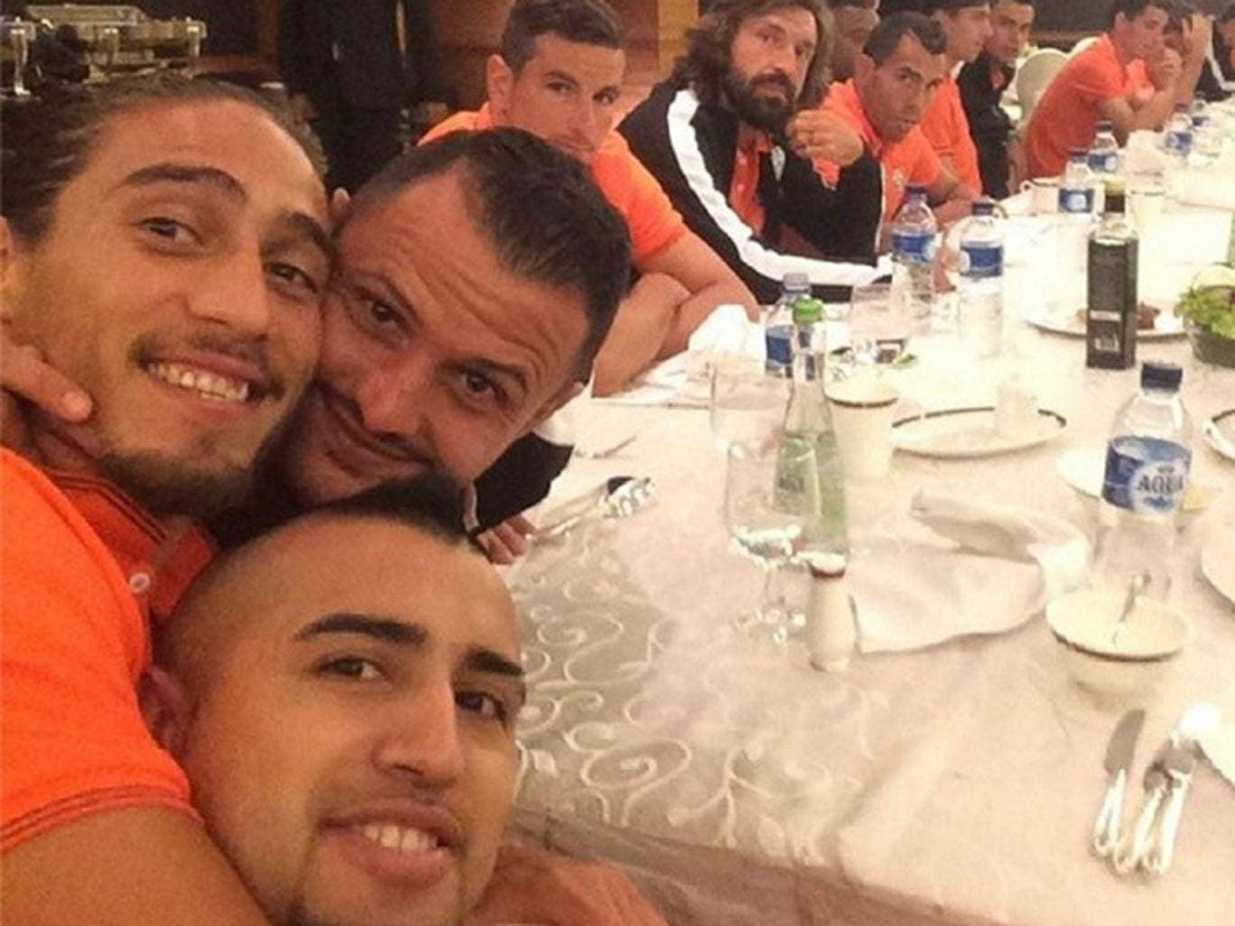 Arturo Vidal posted this picture on his Instagram account today