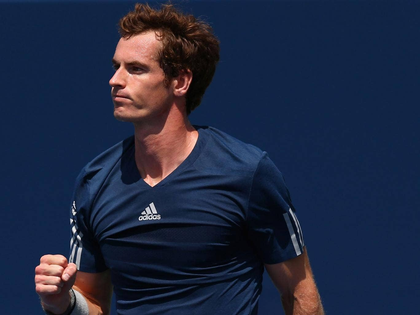 Andy Murray celebrates his victory over Nick Kyrgios in the Rogers Cup in Toronto