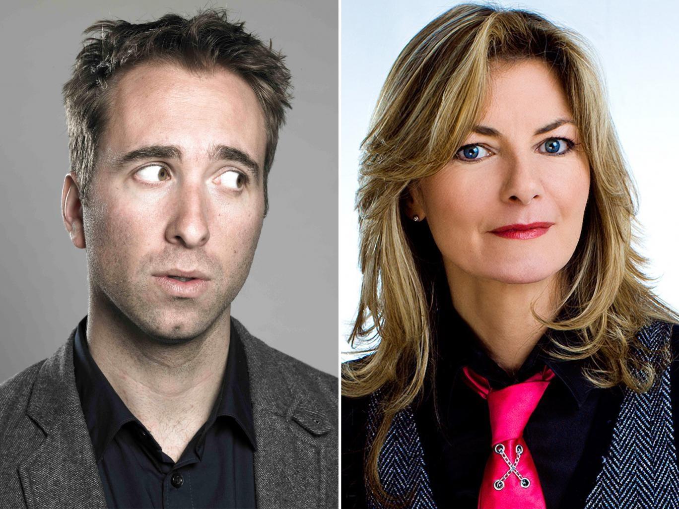 Funny faces: Joe Bor and Jo Caulfield