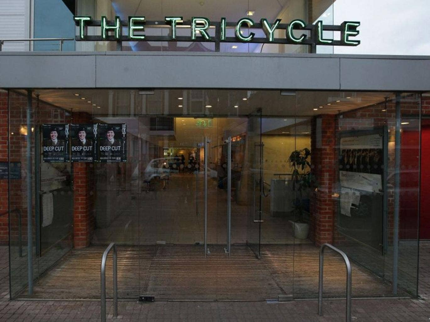 The Tricycle Theatre, Kilburn which has refused to host the UK Jewish Film Festival while it is sponsored by the Israeli Embassy amid the ongoing crisis in Gaza.