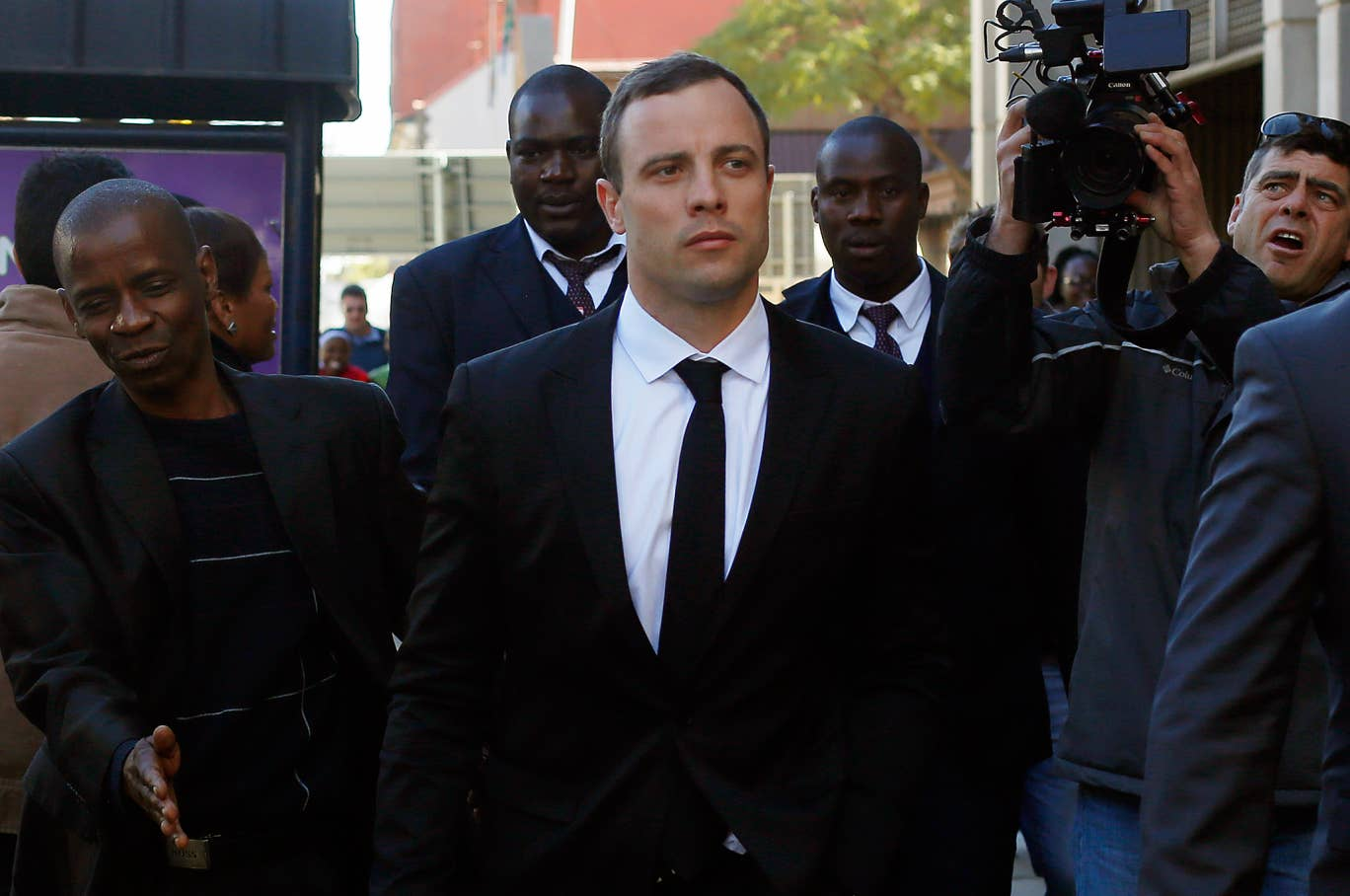 Oscar Pistorius leaves court in Pretoria, South Africa in his ongoing murder trail. Prosecutors and lawyers for Oscar Pistorius have one last chance to convince a South African judge when they present closing arguments this week