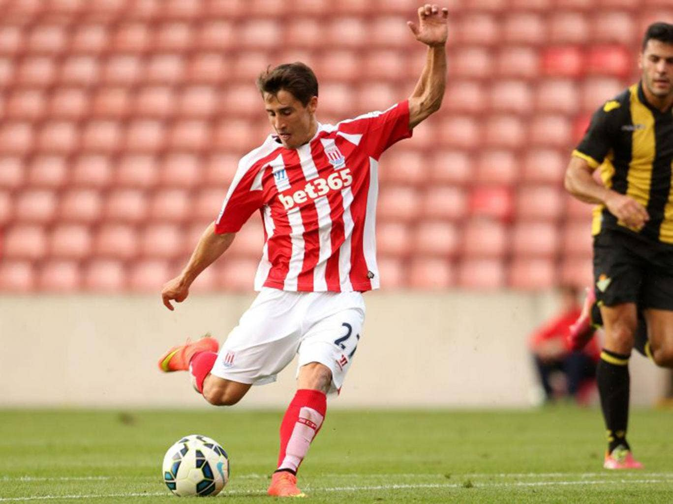Bojan Krkic scored another good goal for Stoke City - he now has three in three matches