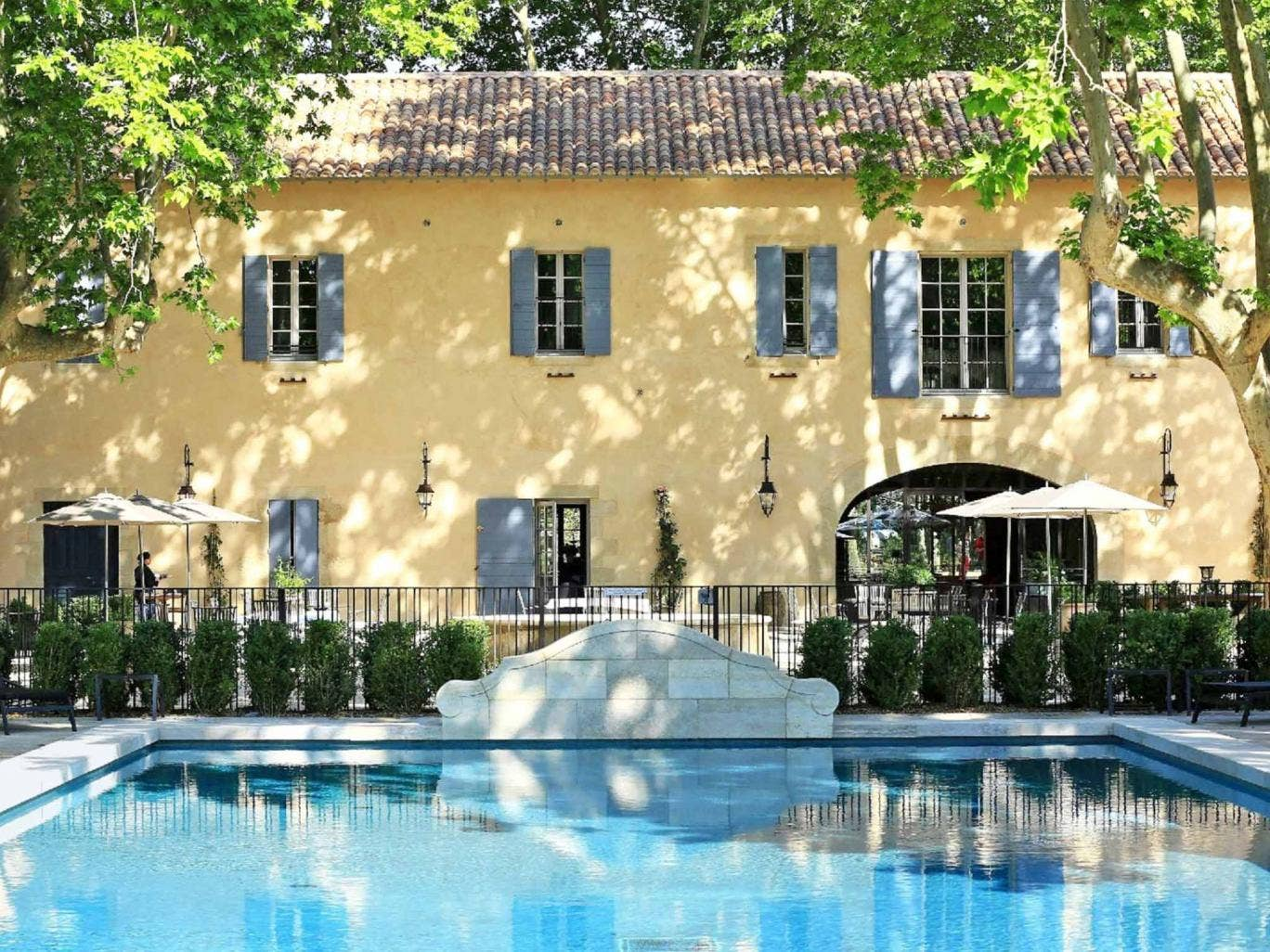 Cool water: the hotel's stone pool