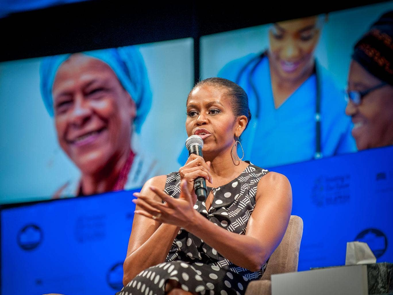 Michelle Obama at the spousal programme of the U.S.-Africa Leaders Summit in Washington