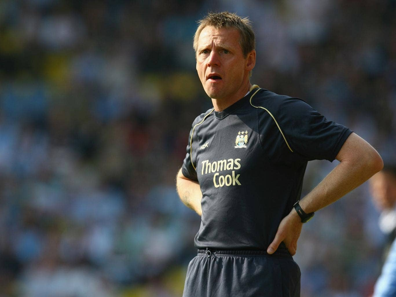 Stuart Pearce during his spell in charge of Manchester City