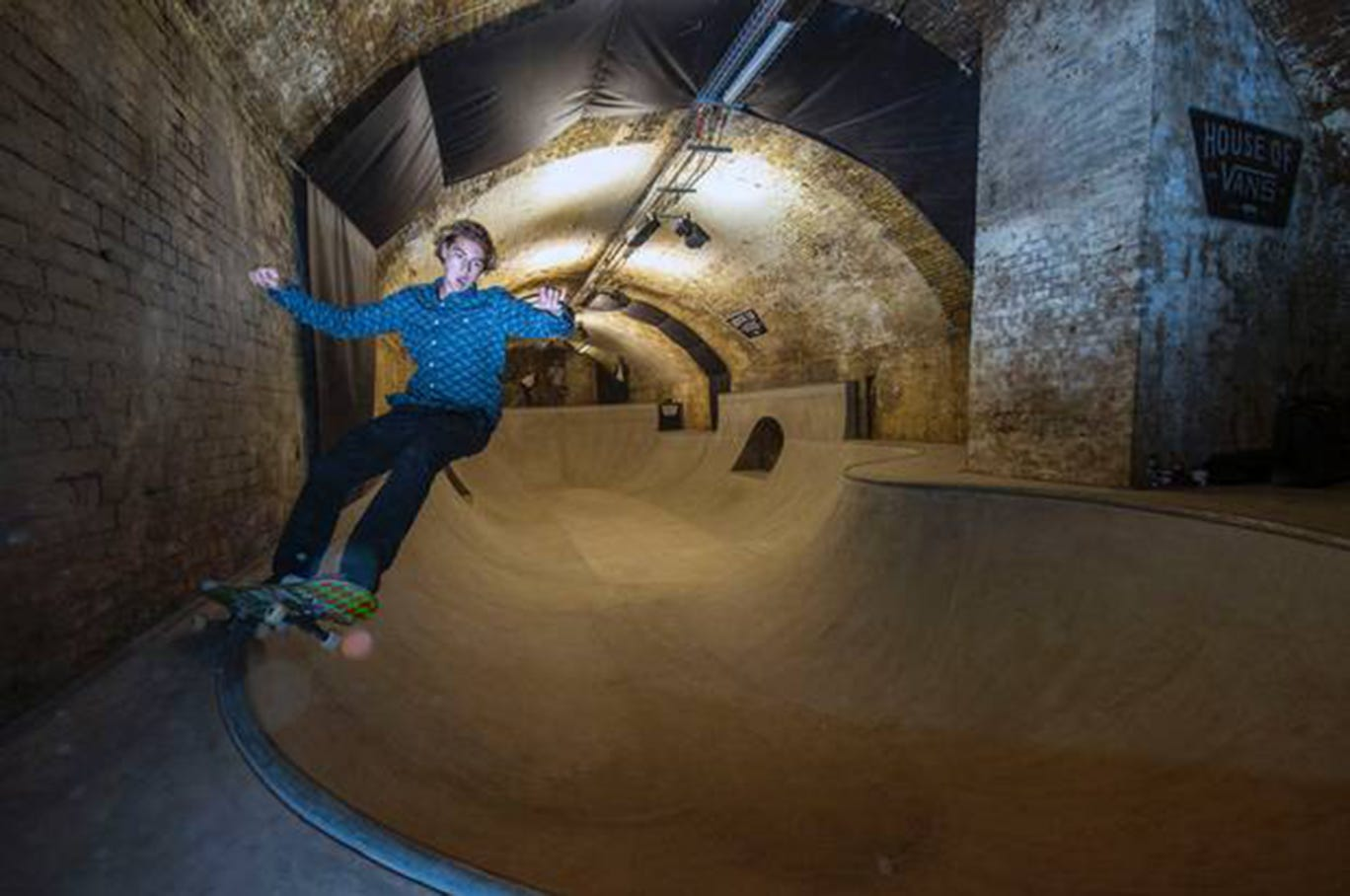 The skate park will open with a night of exhibitions and live music on Saturday
