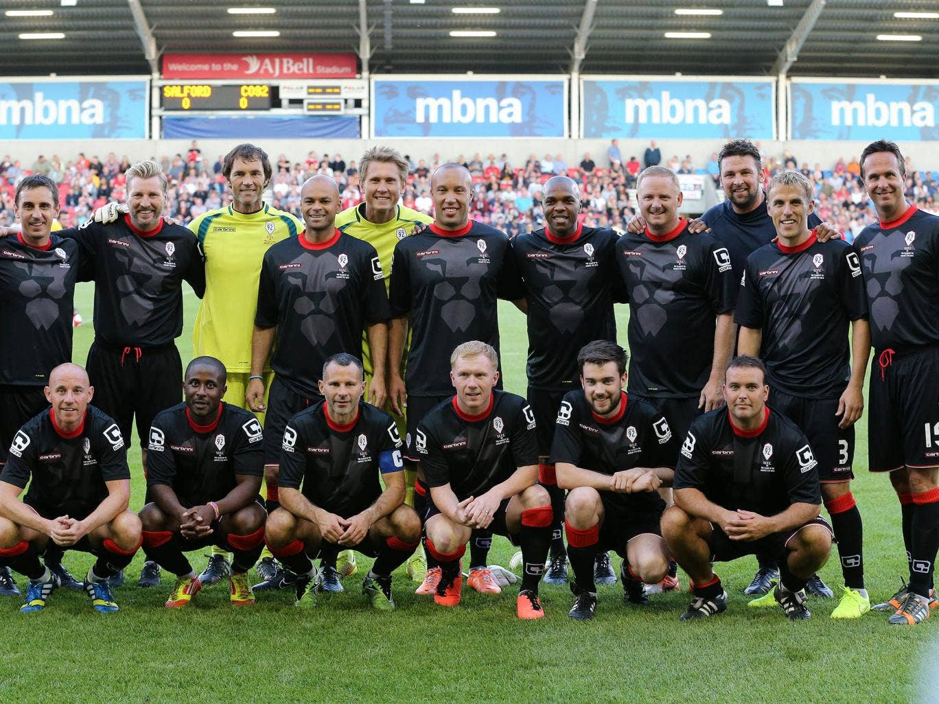 The Class of 92 - including Paul Scholes, Ryan Giggs, Nicky Butt and the Nevilles - played a friendly against non-league side Salford City FC