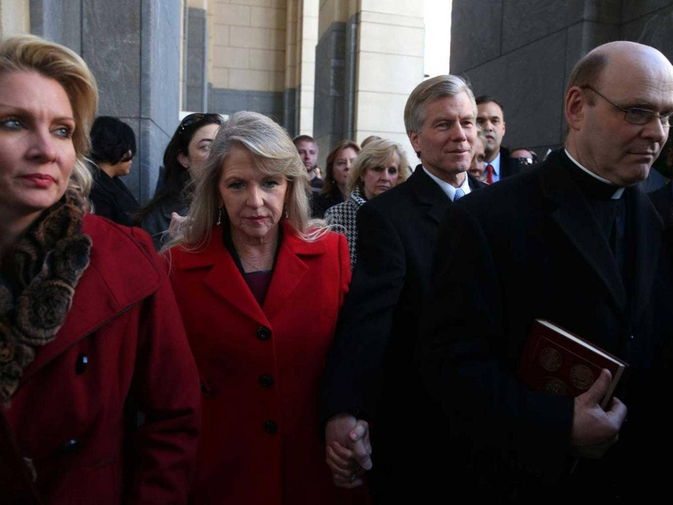 Trial and error: Maureen and Bob McDonnell (centre) face a 14-count indictment