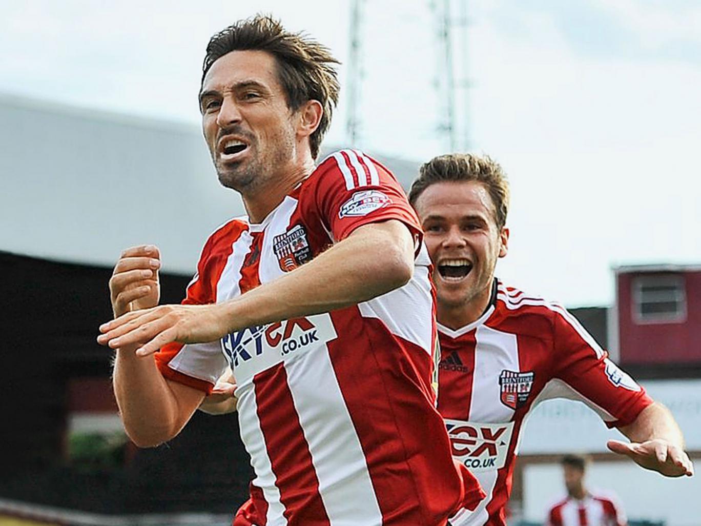 Rock on Tommy: Smith celebrates scoring Brentford's late equaliser