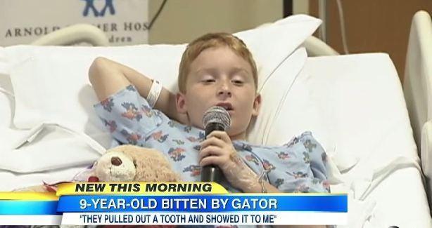 James Barney, 9, survived an alligator attack