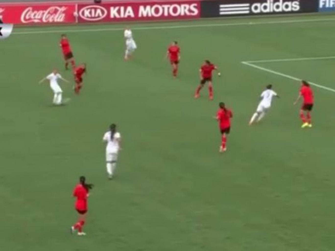 Beth Mead scored a stunning goal for England at the women's U20 World Cup
