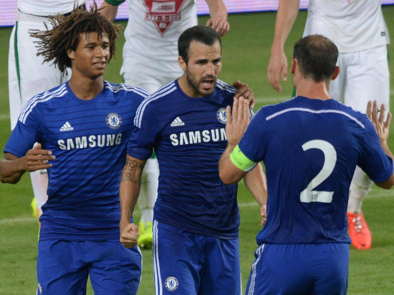 Frank Lampard is the past and Cesc Fabregas (centre) the future of Chelsea, says Jose Mourinho