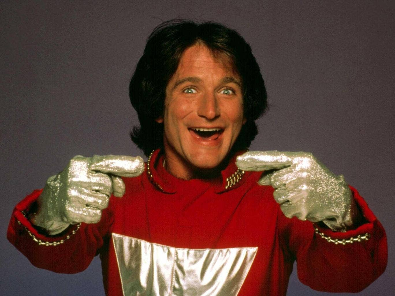 Robin Williams in the world-famous Mork and Mindy series that launched his career