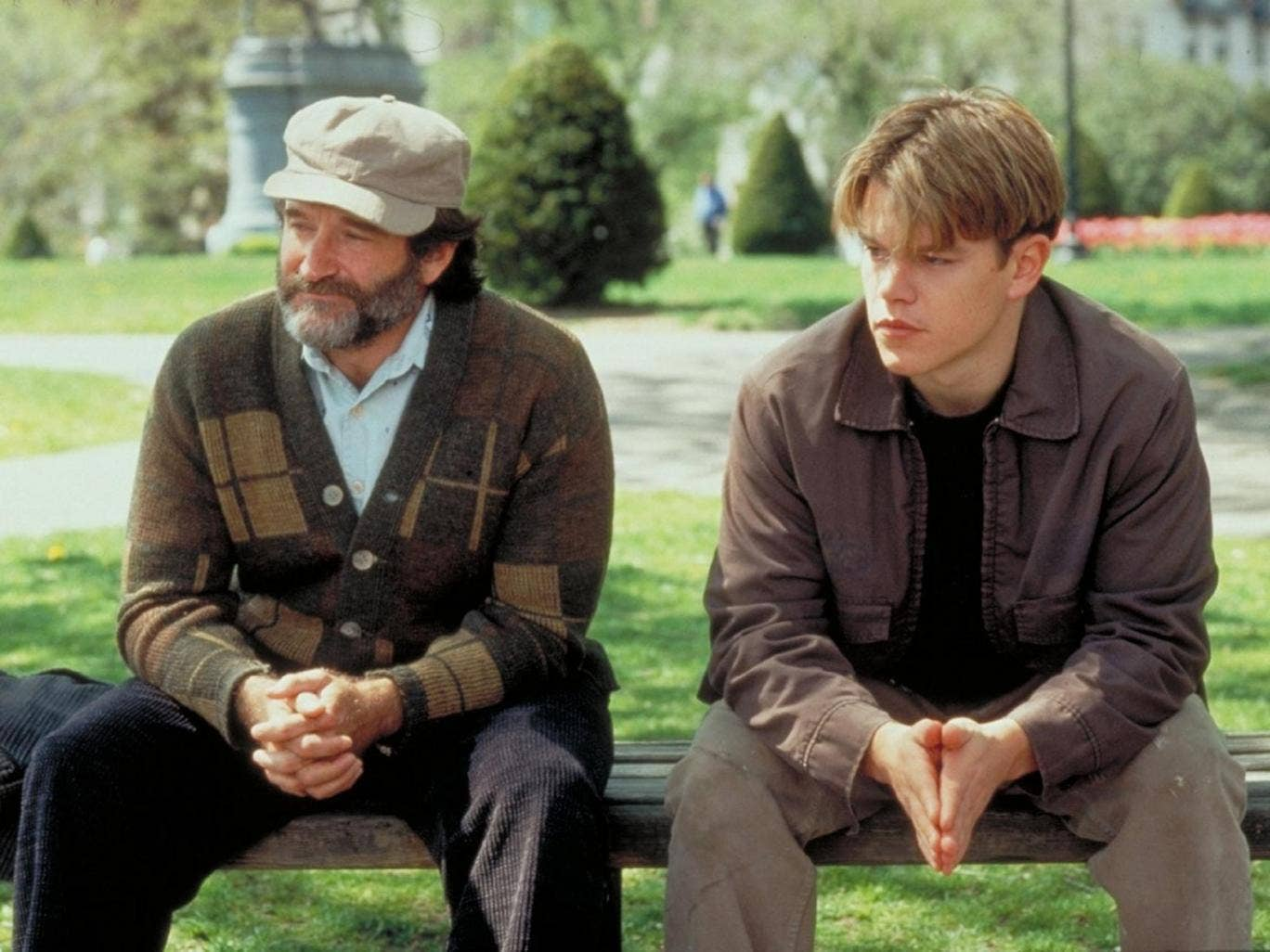 1997: Robin Williams and Matt Damon in 'Good Will Hunting'