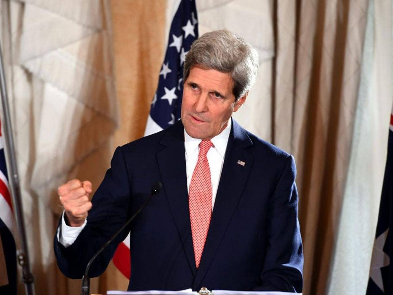 John Kerry had even talked of the importance of the SDN blacklist remaining in place when he spoke to reporters on Sunday in the grounds of the hotel