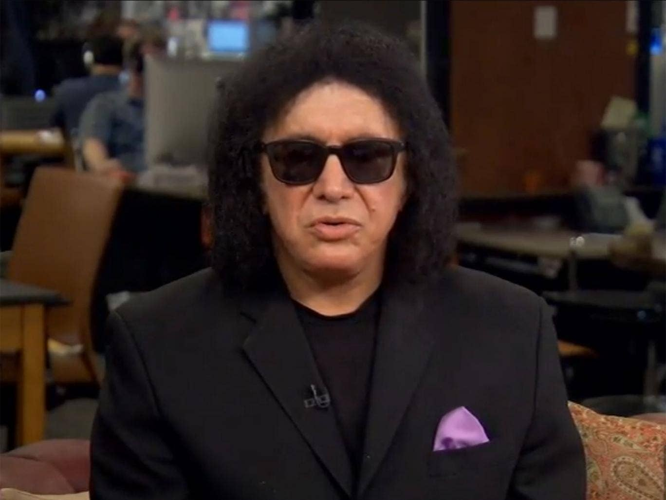 Gene Simmons is surprised by the Black Lips' ambush