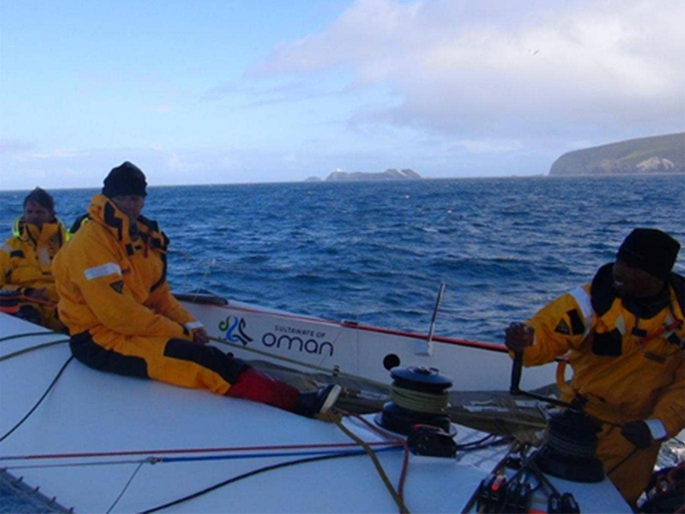 All quiet on the northern front as Musandam-Oman Sail team rounds Muckle Flugga- Shetlands, chasing the Sevenstars Round Britain and Ireland record