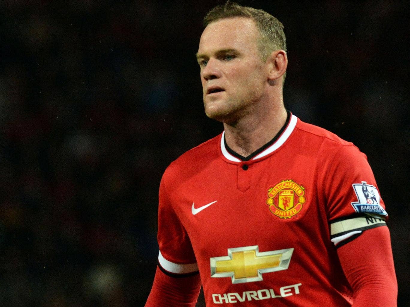 Wayne Rooney wore the armband against Valencia