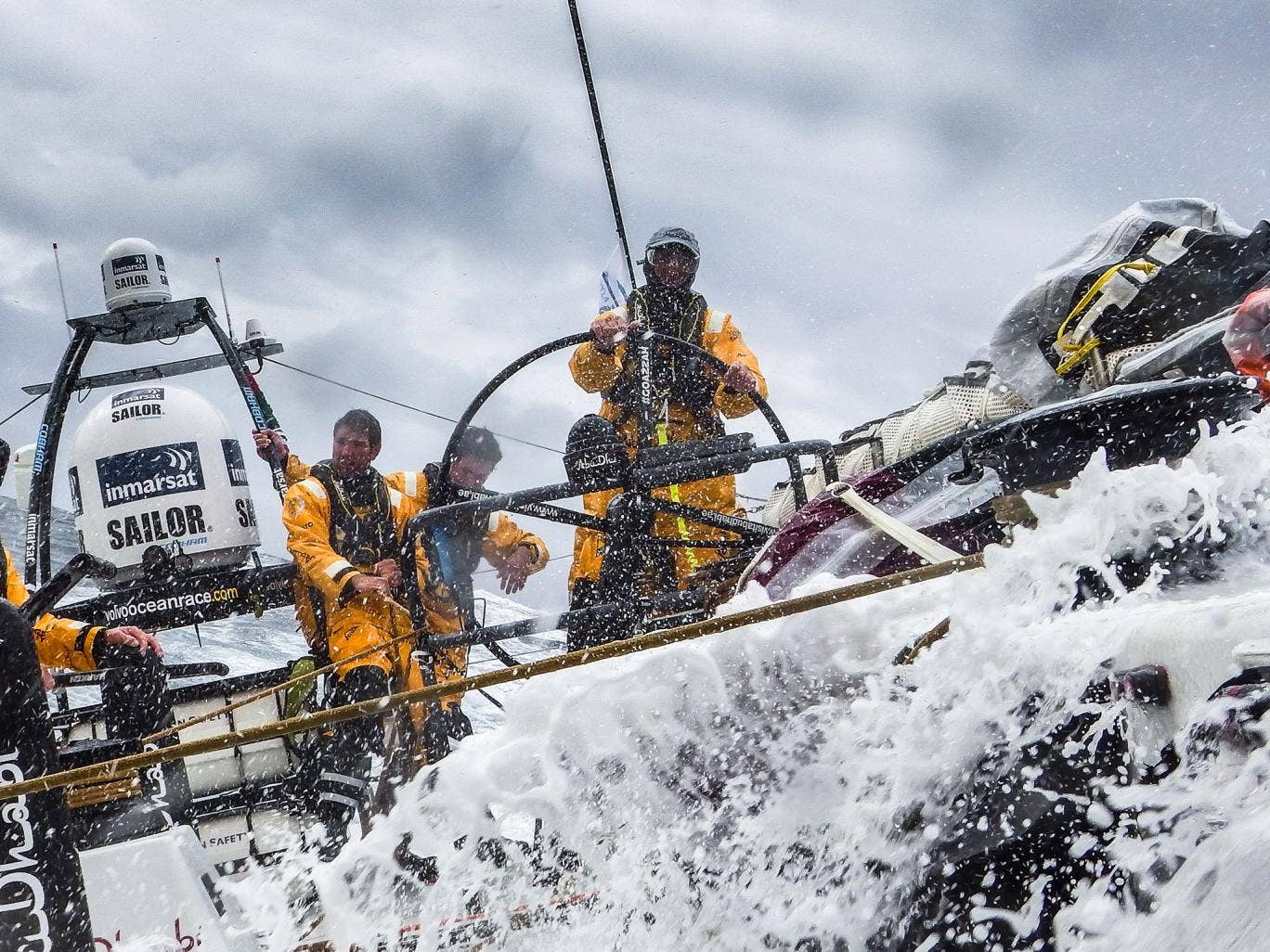Skippered by Ian Walker, Abu Dhabi's Azzam has led new crop of Volvo 65s in the Sevenstar Round Britain and Ireland Race
