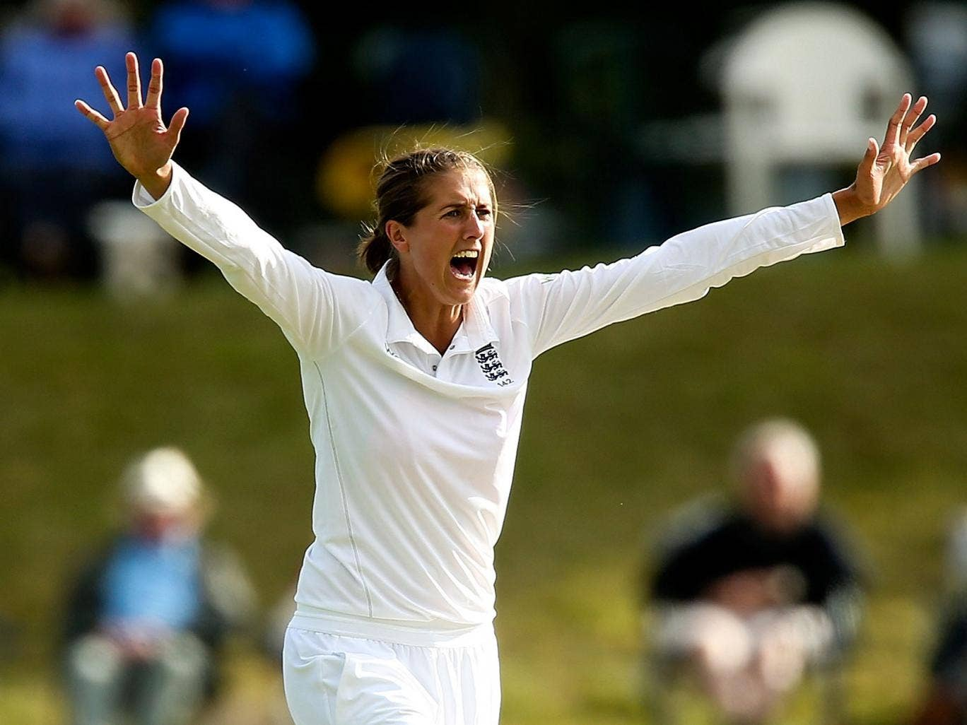 Jenny Gunn took four wickets for 13 runs as England fought back against India after being dismissed for 92