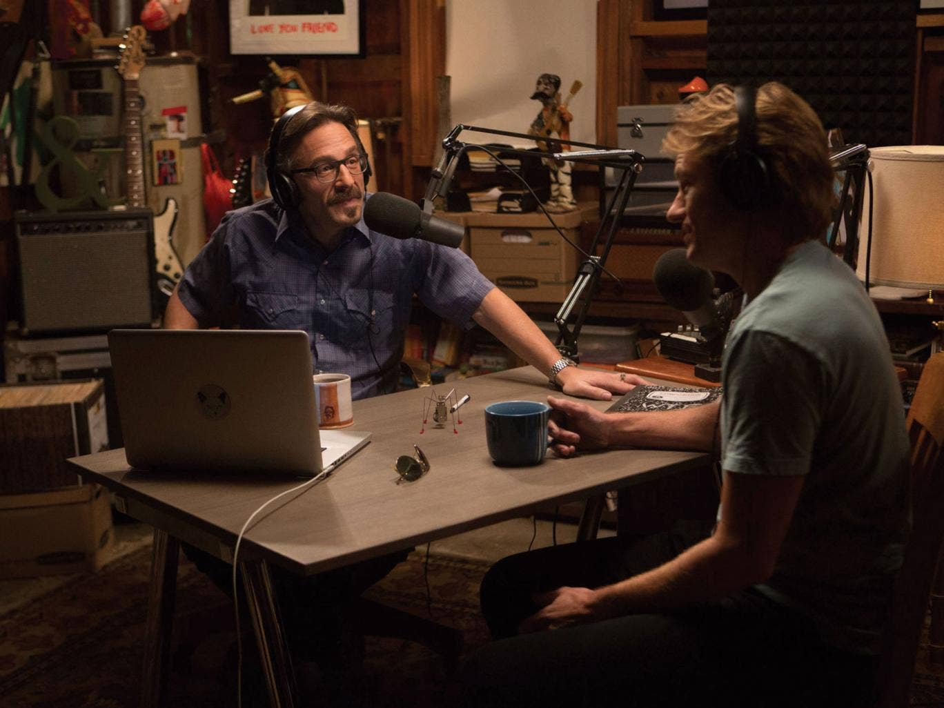 'Maron' stars the US stand-up Marc Maron (left) as himself