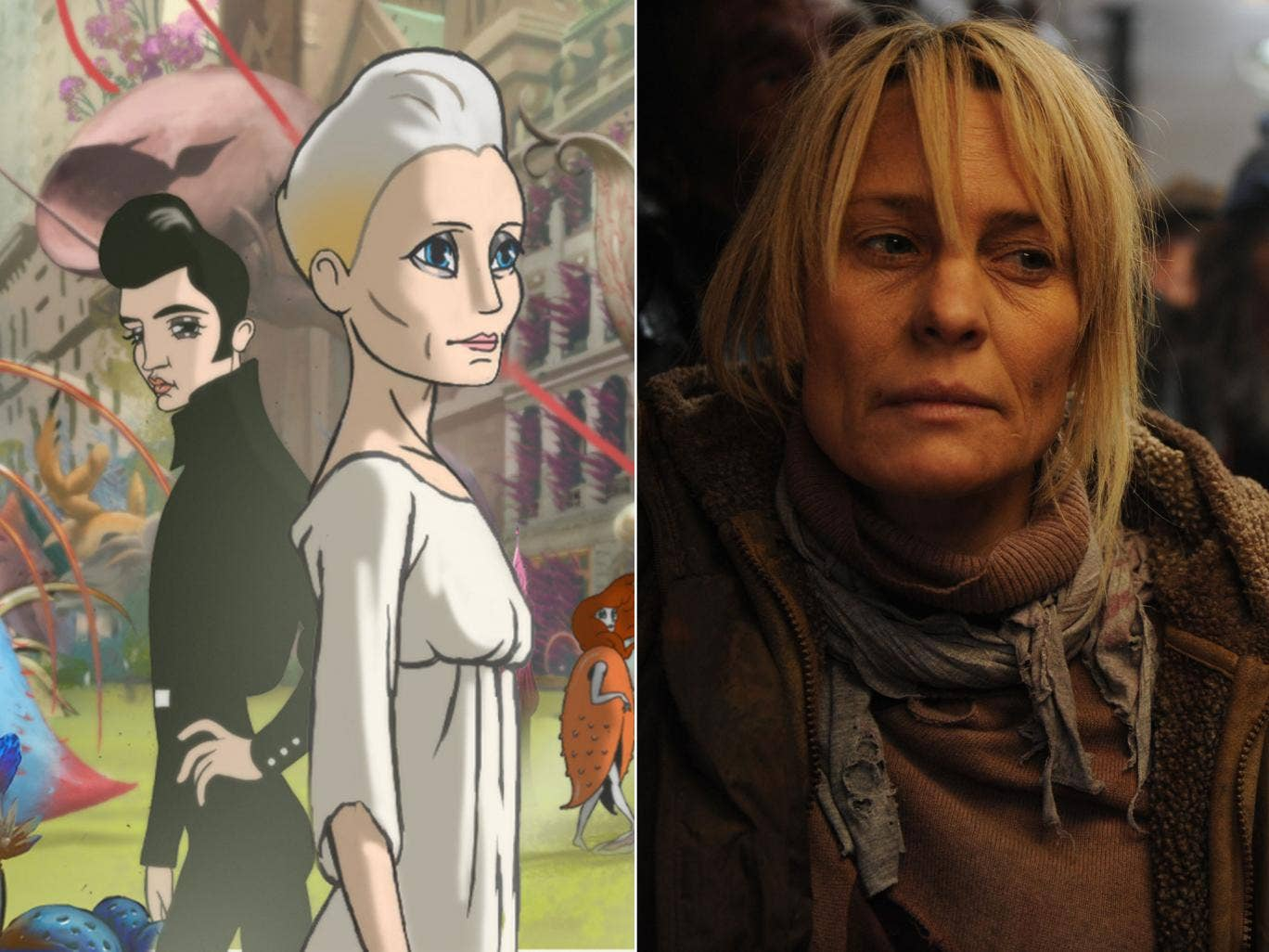 Tough cel: Robin Wright plays animated and human versions of herself in Ari Folman's 'The Congress'