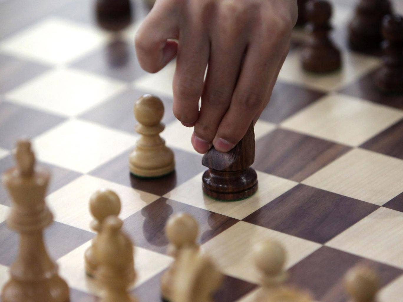 A player competes in the Chess, Men's Classical round 2 during day three of the 4th Asian Indoor & Martial Arts Games at Yonsei International Campus on July 1, 2013 in Incheon, South Korea.