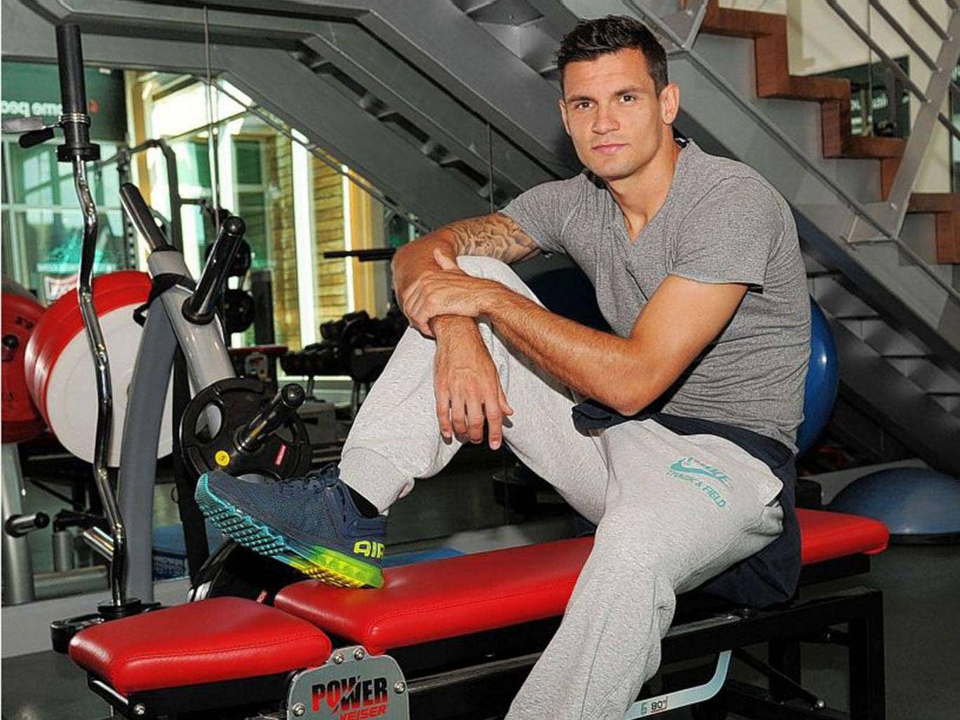Dejan Lovren at Liverpool's Melwood training ground. The defender feels that moving to Anfield was his destiny