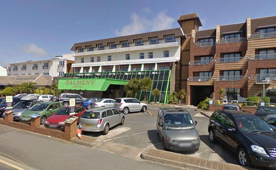 A woman has been arrested on suspicion of murder after a girl, 3, died in a hotel swimming pool