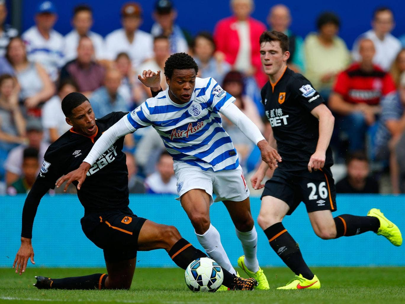 Despite speculation linking him with a move away from Loftus Road, Loic Remy started in the blue and white of QPR