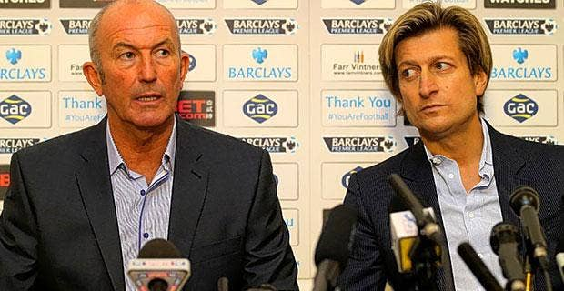 Split personalities: Former Palace manager Tony Pulis (left) and chairman Steve Parish
