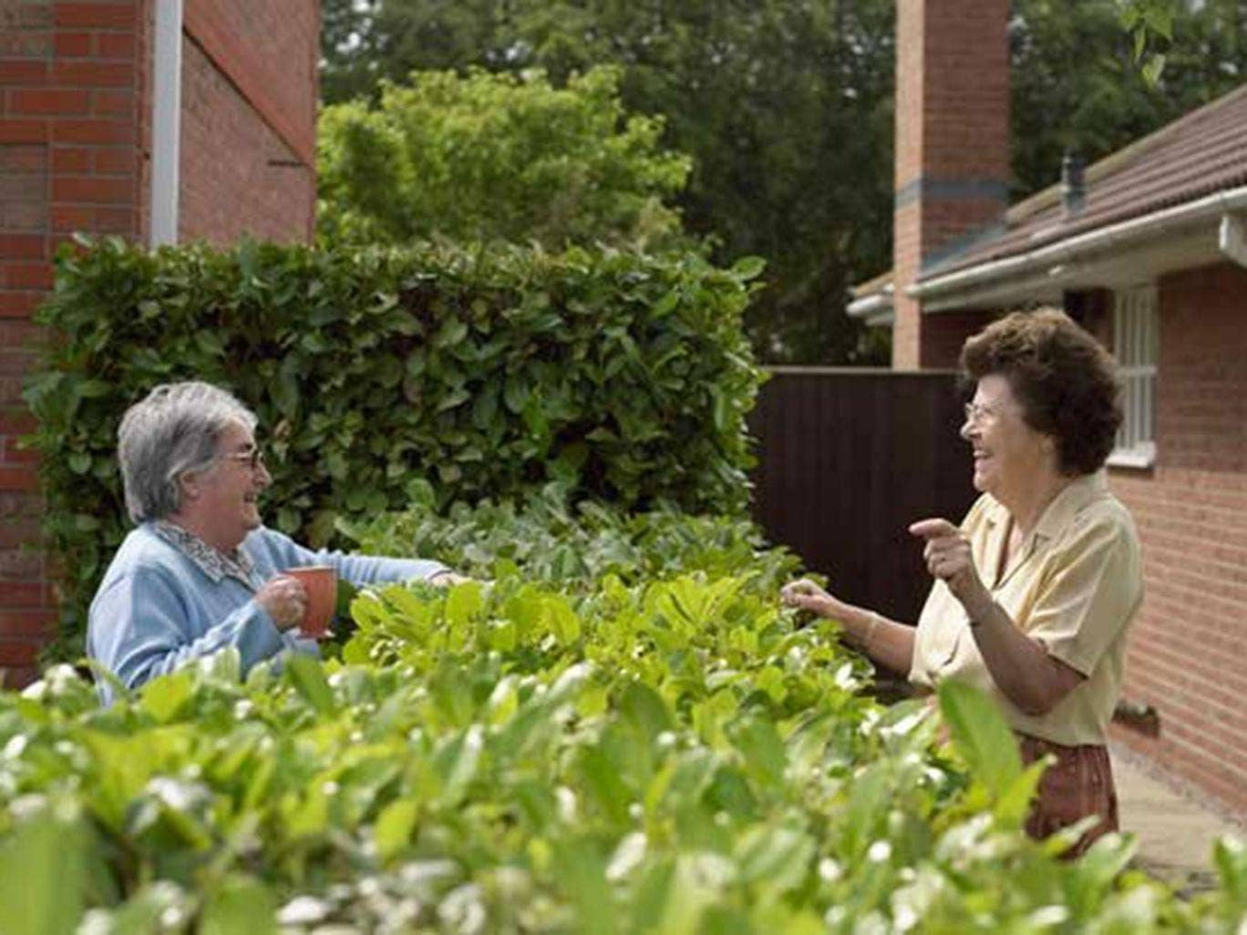 Getting on well with the people in your community could have health benefits, particularly for the elderly