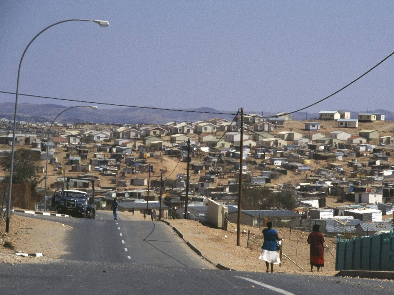 Katutura Black Township, located in Windhoek, Namibia