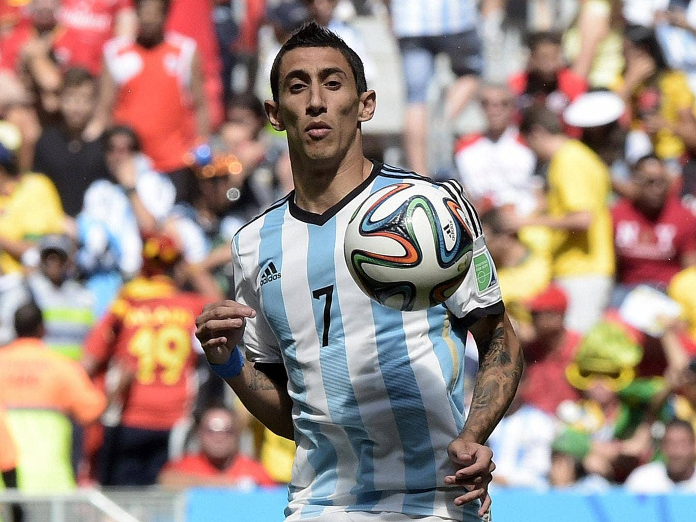 Angel Di Maria at the World Cup