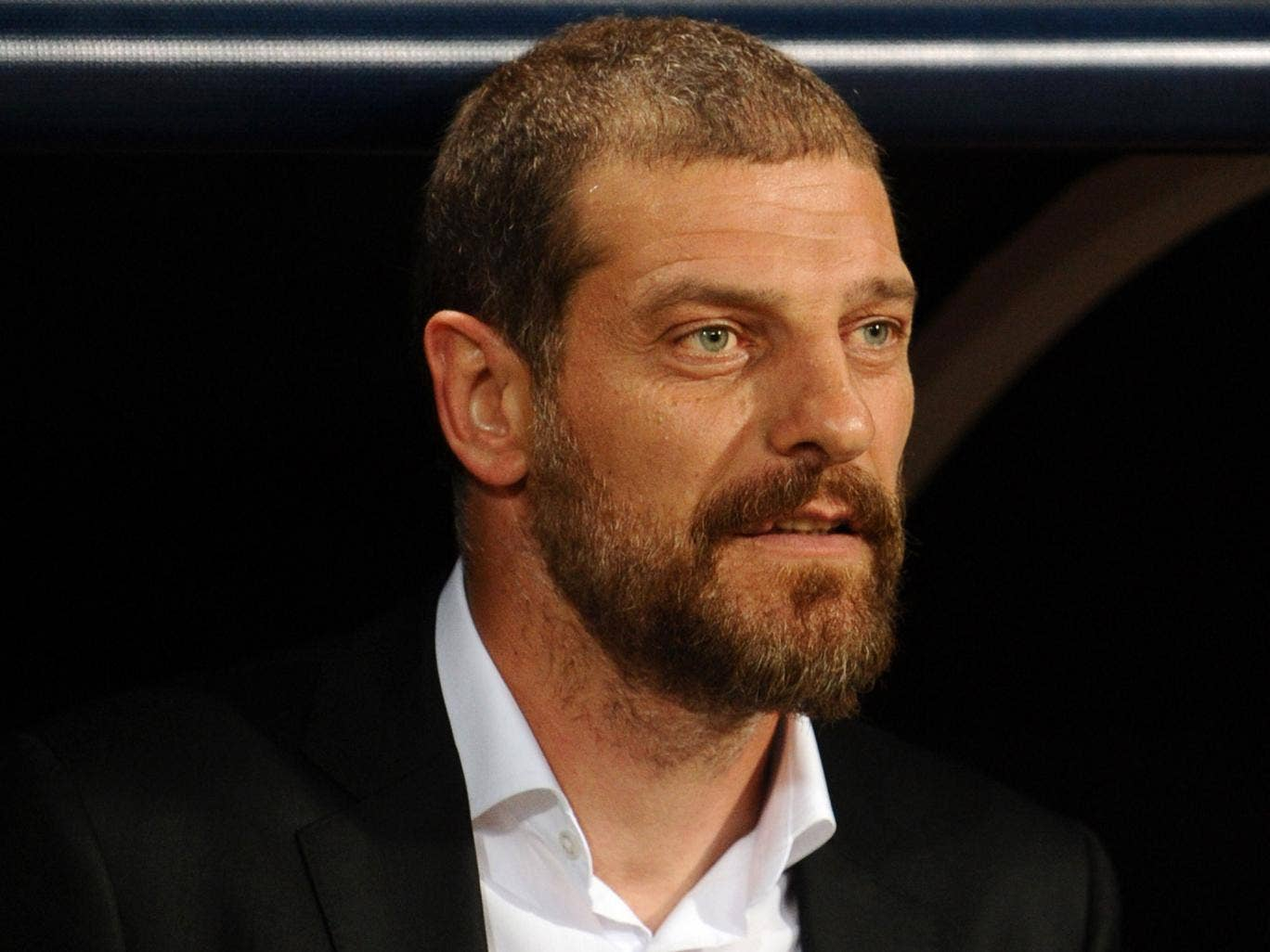 Slaven Bilic looks on from the touchline