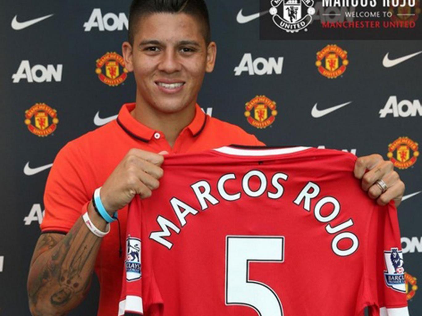 Marcos Rojo and his No 5 shirt