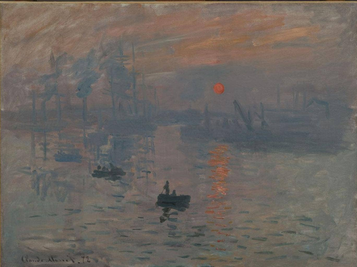Once they knew Monet's exact viewpoint, the researchers could date the painting by the position of the sun, the height of the tide and the weather