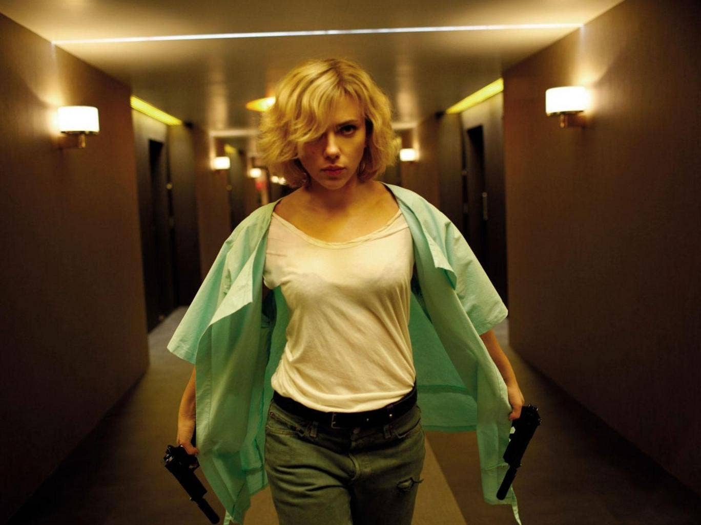 Loaded weapon:  drugs have surprise side effects for Scarlett Johansson in Luc Besson's 'Lucy'