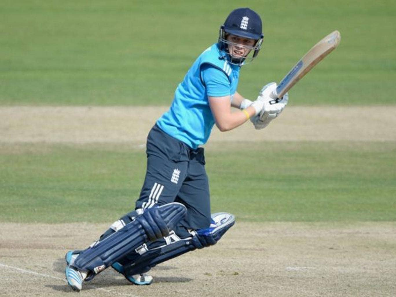 Heather Knight bats during the 1st  Royal London ODI between England and India