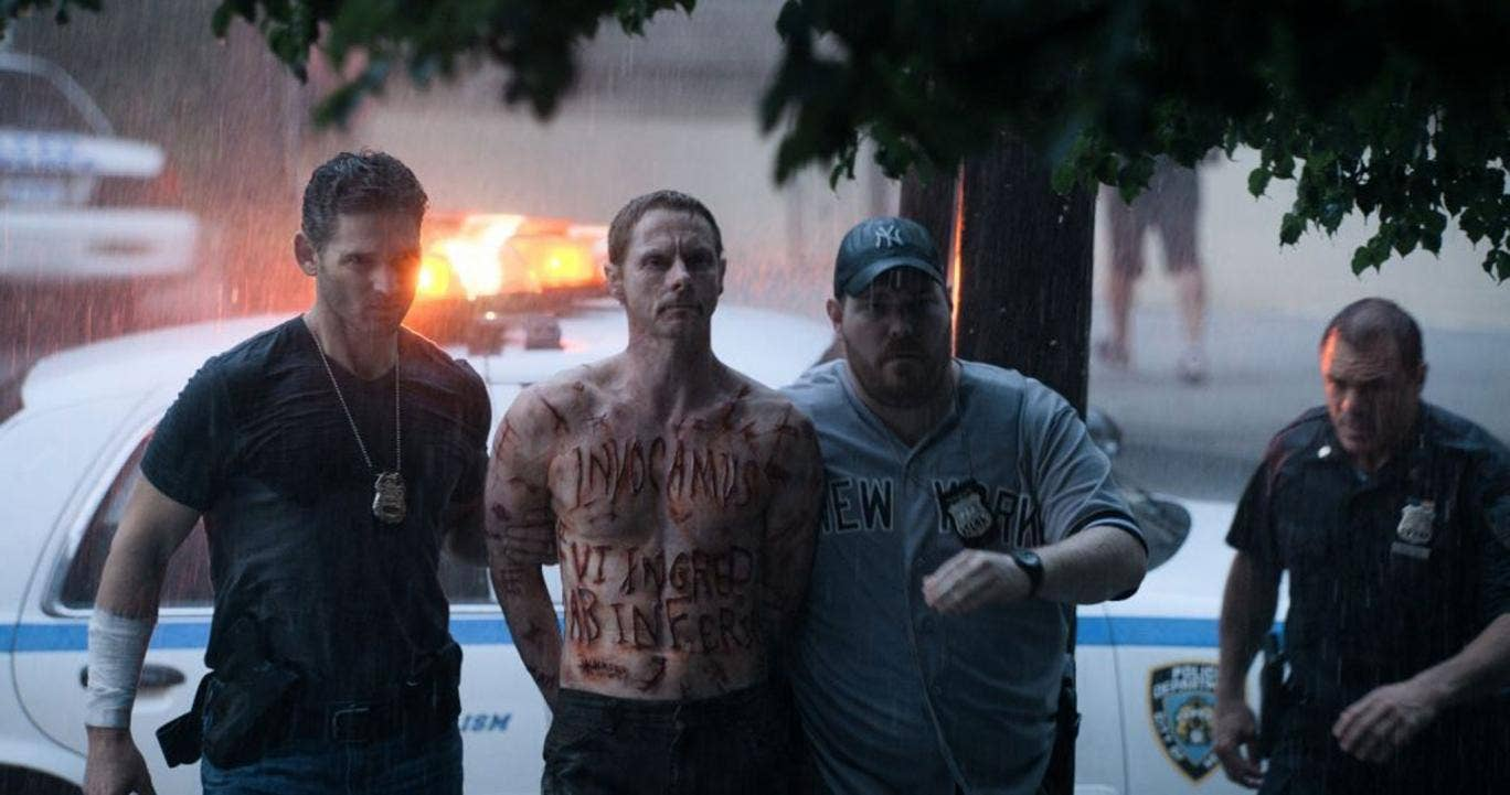 Paranormal criminal activity: Eric Bana arrests Sean Harris in Deliver Us From Evil