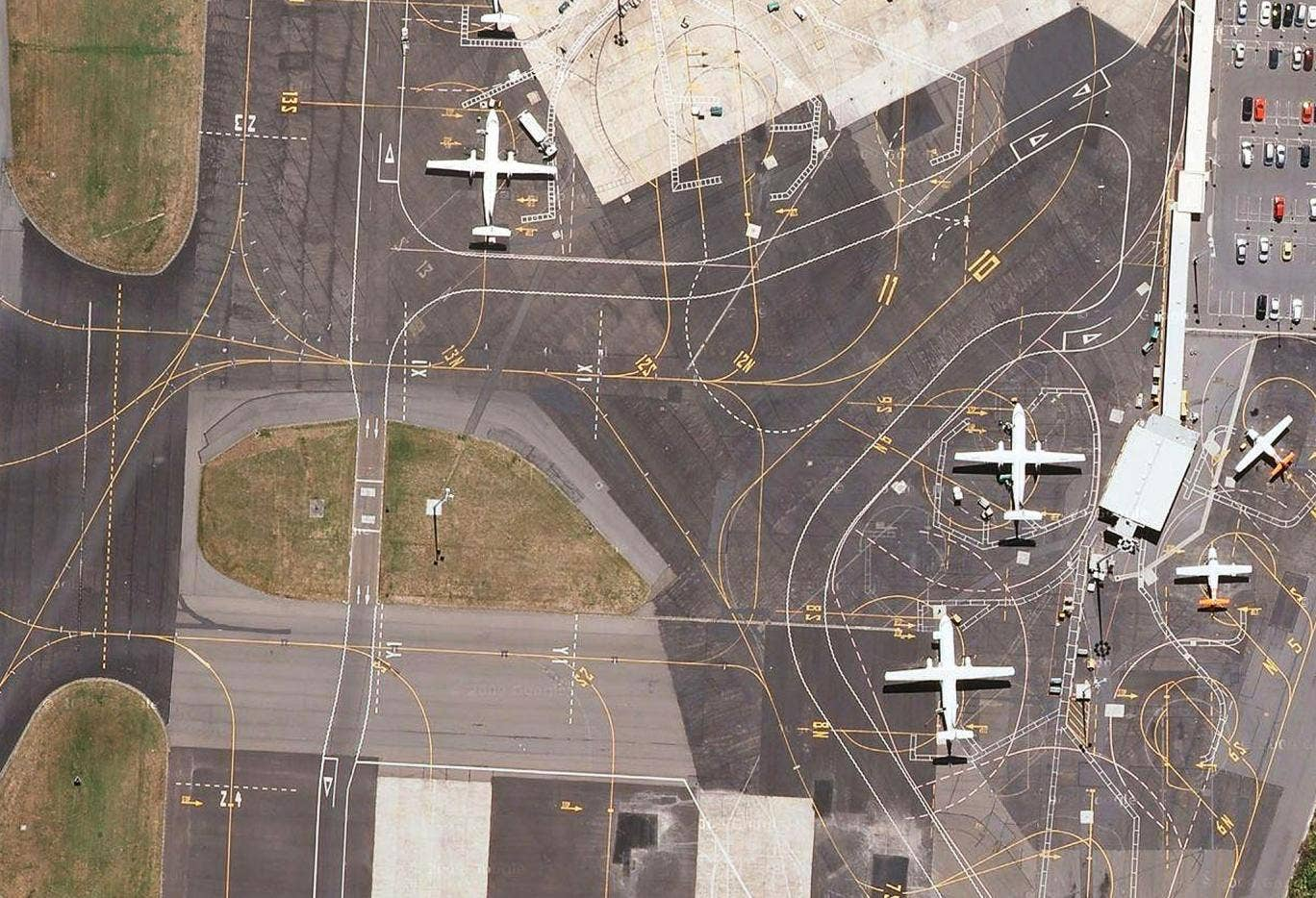 The image of New Zealand's Wellington International Airport, is among O'Neill's favourites