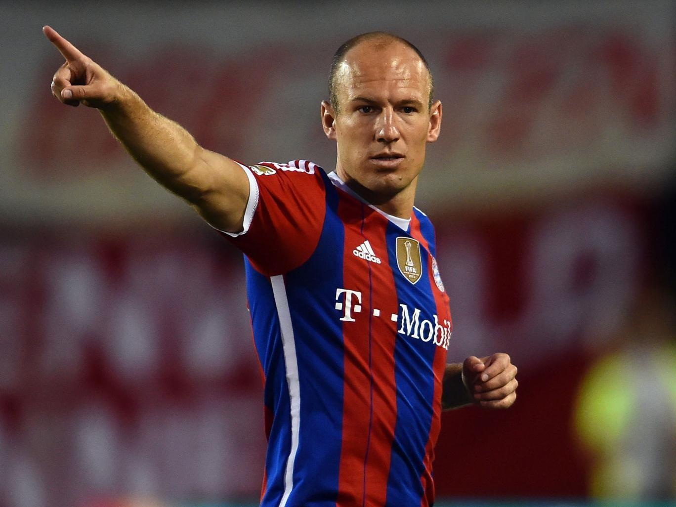 All eyes will be on Arjen Robben's Bayern Munich
