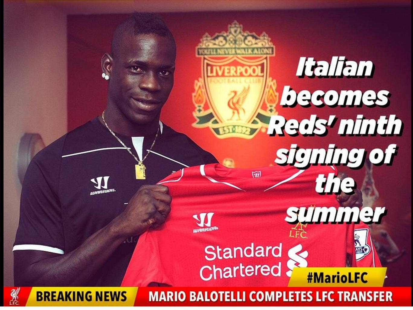 Liverpool confirm the Balotelli transfer on Twitter