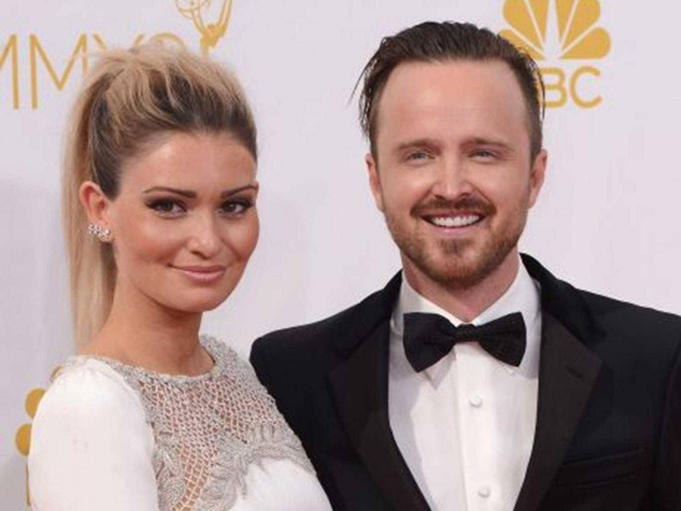 Lauren Paul with husband Aaron Paul at the Emmy's last night