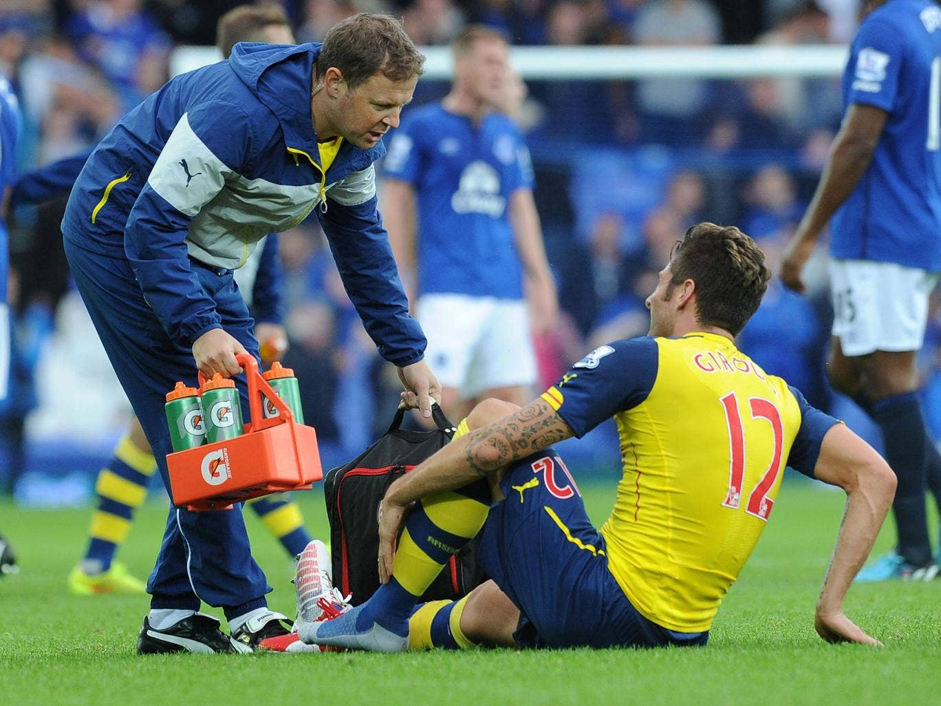 Giroud suffered the injury against Everton last Saturday
