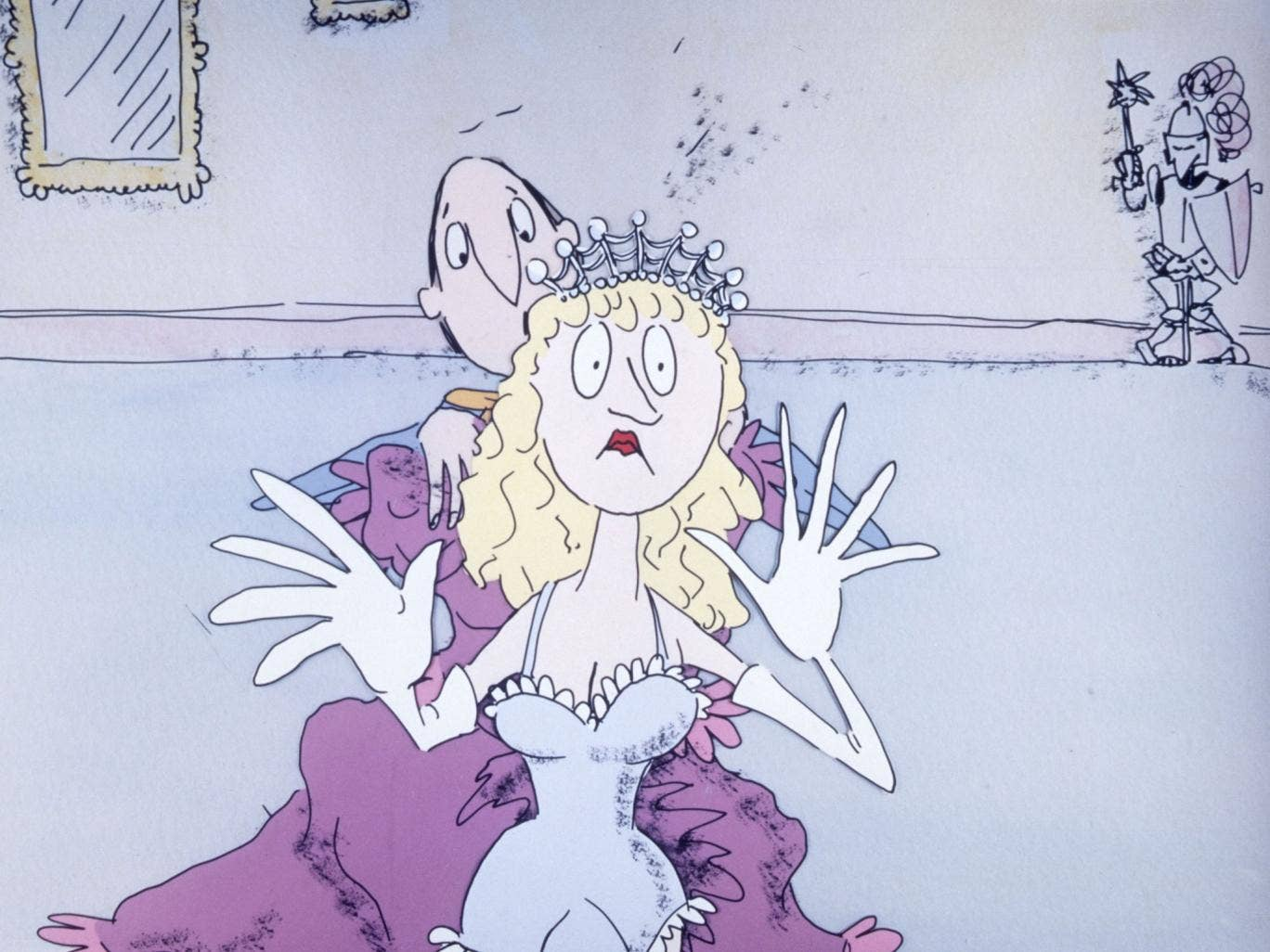 A still from ITV's 'Revolting Rhymes and Dirty Beasts' animation based on Quentin Blake's original illustrations