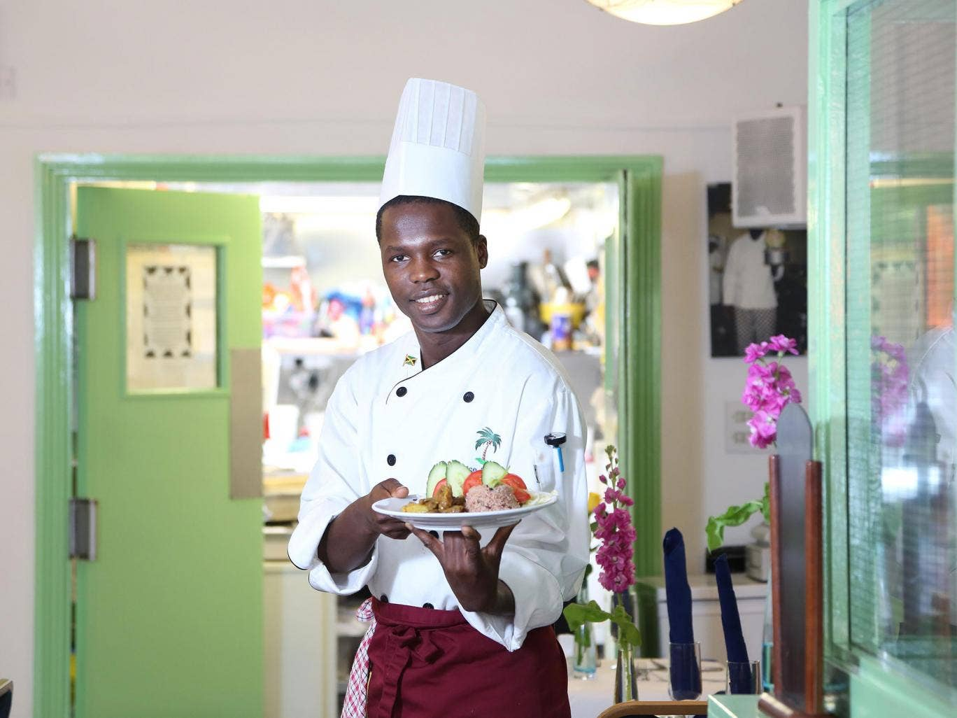 There's the rub: chef Branatic Neufville at his restaurant Rice and Things in Bristol