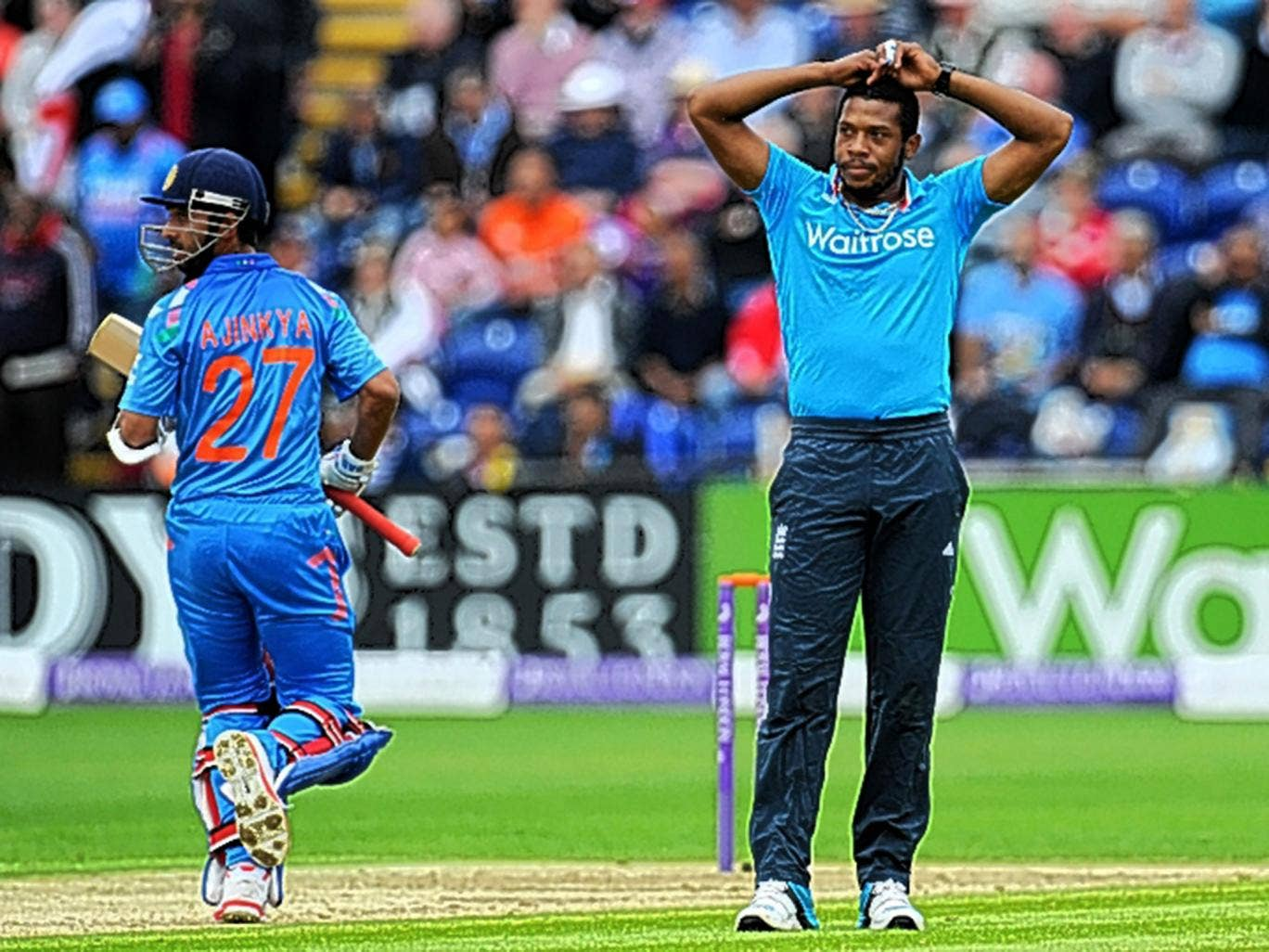 Chris Jordan looked a shadow of his former self during England's defeat in Cardiff