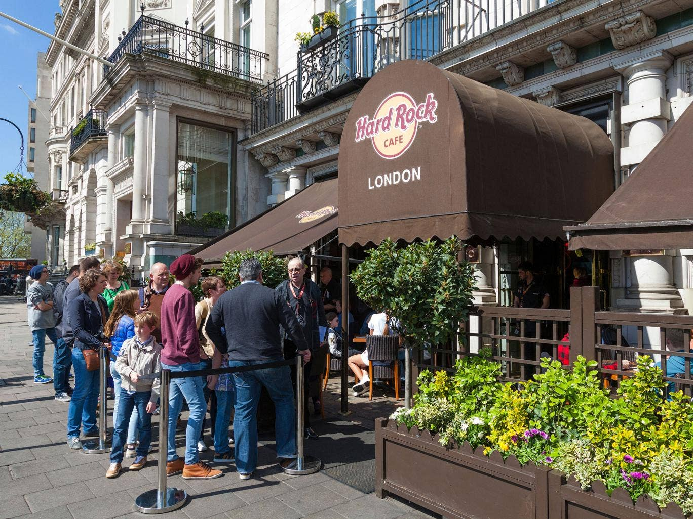 Rock on: the Piccadilly branch of the Hard Rock Café